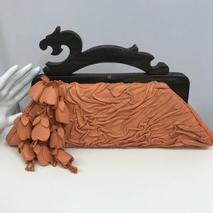 Anthony Luciano Leather Bag Wood Dragon Handles